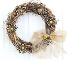 feather flower diy fall feather and flower wreath