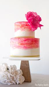 watercolor and gold leaf cake design by the pastry studio the