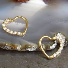 gold piercing rings images Gold daith heart piercing earring 16g ear piercing ring gold hearts cl jpg