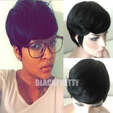 fashion black brazilian hair full lace wig short cut glueless lace
