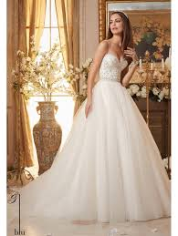 beaded wedding dresses mori 5463 ivory beaded tulle gown wedding dress