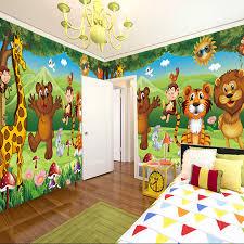 custom 3d photo mural wallpaper for kids room animal paradise