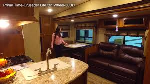 prime time crusader lite 5th wheel 30bh youtube