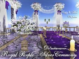 purple and silver wedding second marketplace dr3amweaver royal purple silver