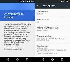 android system update android one devices are now getting android 6 0 marshmallow