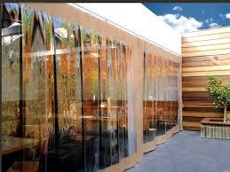 Patio Clear Plastic Enclosures by Clear Patio Curtains Bjhryz Com