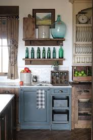 rustic blue gray kitchen cabinets rustic kitchen cabinet combination rustic farmhouse kitchen