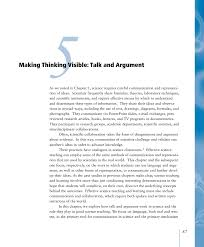 5 making thinking visible talk and argument ready set science