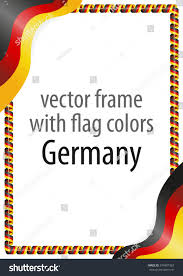 The Germany Flag Frame Border Ribbon Colors Germany Flag Stock Vector 574807363