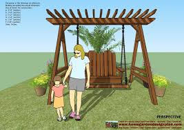 pergola swing plans home garden plans sw101 arbor swing plans construction graden