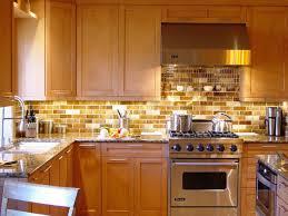 Smart Tiles Kitchen Backsplash Contemporary Kitchen Area With Gold Accent Glass Subway Smart Tile