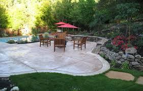 Backyard Patio Landscaping Ideas Backyard Stamped Concrete Patterns Design Ideas With Ashlar