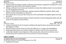 Resume Sample For Warehouse Worker by Entry Level Warehouse Resume Sample No Work Experience Warehouse