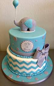 baby boy girl baby shower cake fondant sculpted elephant ballon