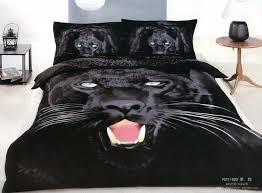 Queen Duvet Comforter 3d Black Panther Leopard Print Bedding Comforter Set King Queen