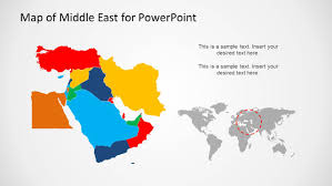 middle east map ppt middle east map template for powerpoint slidemodel