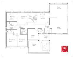 plain pied 4 chambres plan de maison moderne plain pied 4 chambres unique plan maison