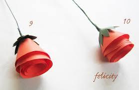 cara membuat bunga dari kertas pita jepang bunga mawar kertas 2 made by love