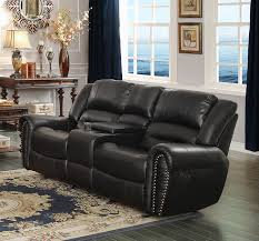 Loveseats That Rock And Recline Amazon Com Homelegance 9668blk 2 Double Glider Reclining Loveseat