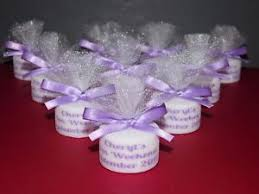 party favours personalised candle tealight hen party favours any colour satin