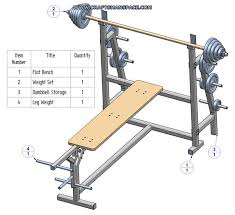 Olympic Bench Set With Weights Olympic Flat Bench Press Plans