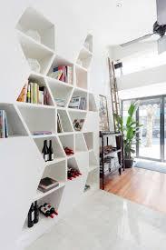 bookshelf astonishing geometric bookcase contemporary bookshelf