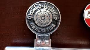 vintage desmo of grill ornament emblem badge daimler