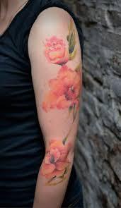 tattoos skull tattoos flora watercolor tattoos tattoo artists