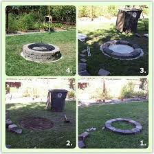 How To Build A Fire Pit In The Backyard by The Fire Pit I Built In The Backyard Sacramento Appraisal Blog