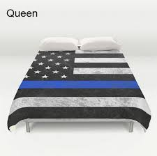 American Duvet Covers Thin Blue Line Comforter Or Duvet Cover Set American Flag