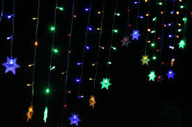 Christmas Window Decorations Led by Snow Shape Led Curtain String 120leds 24drop Lines Fairy Light