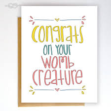 funny baby shower card funny greeting card baby card funny