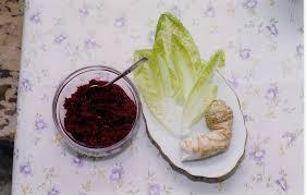 bitter herbs on seder plate maror
