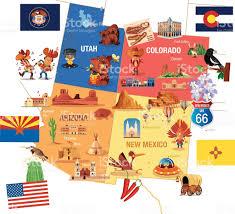 Map Of Mesa Az Cartoon Map Of Usa Stock Vector Art 482626510 Istock