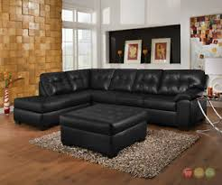 Soho Sectional Sofa Soho Contemporary Black Bonded Leather Sectional Sofa Ottoman