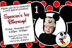 12 printed mickey or minnie mouse birthday thenotecardlady