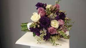 roses u0026 lisianthus shades of purple bridal bouquet flowers of
