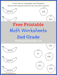 print math worksheets 2nd grade worksheets