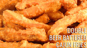 double beer battered cajun fries recipe cooking with janica