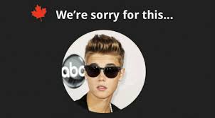 We Re Sorry Meme - canada apologizes for justin bieber weknowmemes