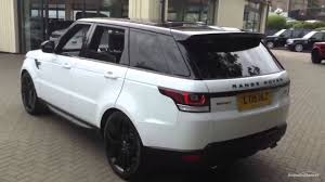 land rover white black rims land rover range rover sport sdv6 hse dynamic white 2015 youtube