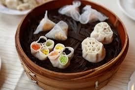 fa des cuisine dumpling banquet 饺子宴 of different shapes colors and tastes