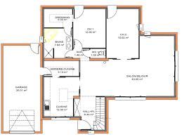 plan maison une chambre plan maison moderne 4 chambres plan rdc maison une maison vraiment