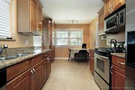 small kitchen ideas with brown cabinets galley kitchen kitchen design ideas org galley kitchen