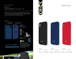 included evutec aergo series ballistic nylon red for iphone x afix