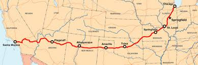 road map planner usa historic route 66 overview map driving route 66 through arizona