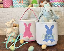 personalized easter baskets for kids canvas easter basket etsy