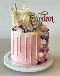 birthday cake toppers eighteen acrylic silver mirror 18th birthday cake topper