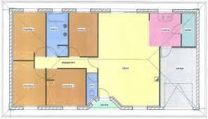 plan maison 3 chambre plain pied de maison 3 chambres 2