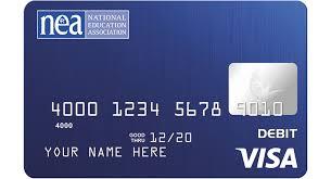 prepaid cards nea visa prepaid card nea member benefits